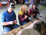 030 Basket Weaving in the Interactive pavilion  Duncan Peter, Eli Wilson, Alex McPherson