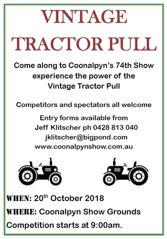 Coonalpyn Show Tractor Pull 2018